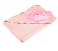 Полотенце-капюшон махровое с Мишкой 2p-31green