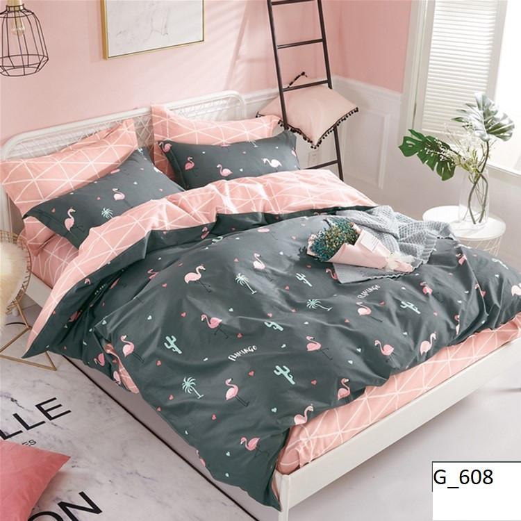Качественное постельное бельё бязь Фламинго (евро)
