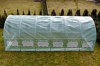 Теплиця парник с окнами 24м² (800х300х200) Садовий тунель з вікнами для городу виробник Польша Теплица БОЛЬШАЯ
