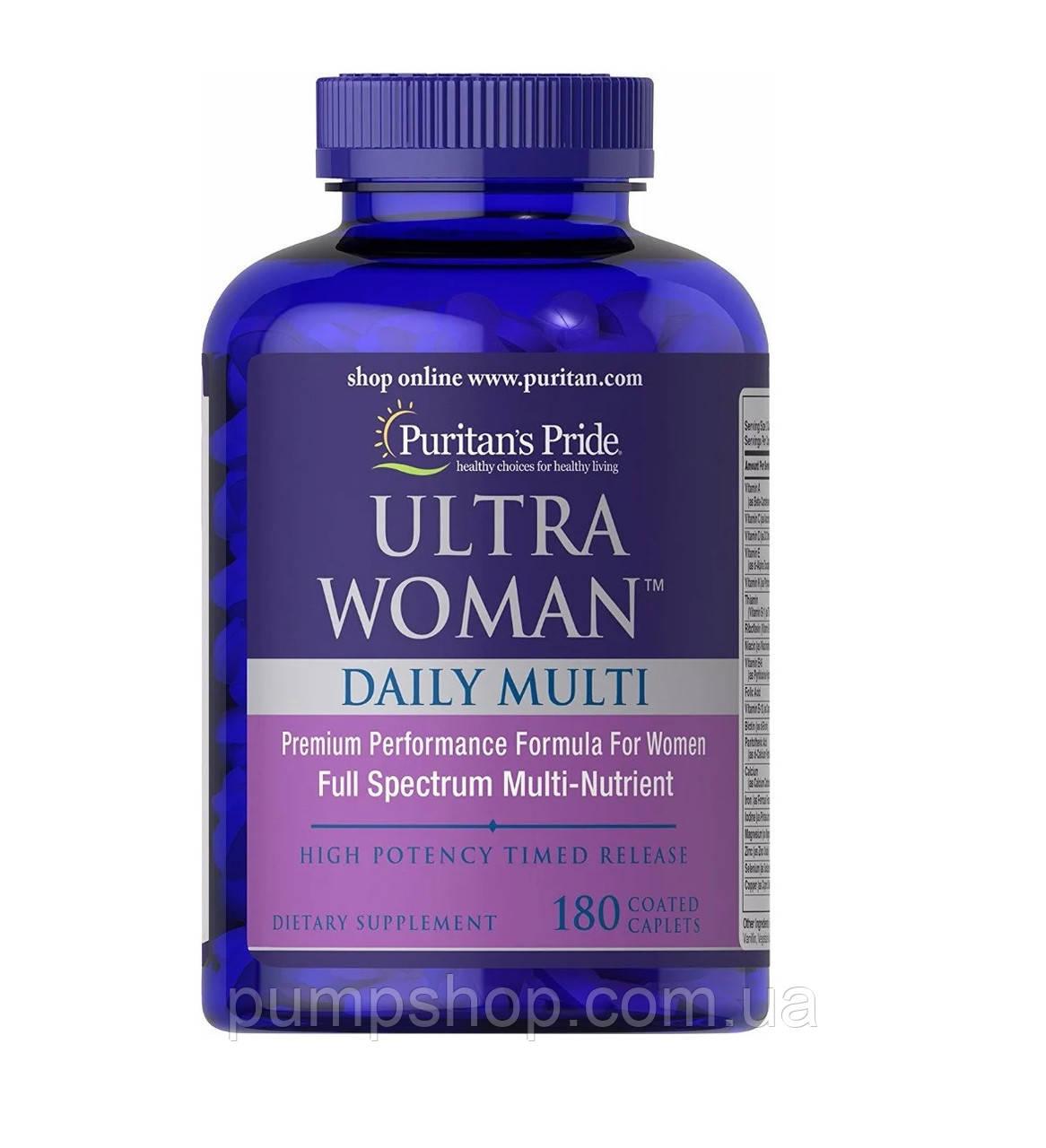 Витамины для женщин Puritan's Pride Ultra Woman™ Daily Multi 180 таб.