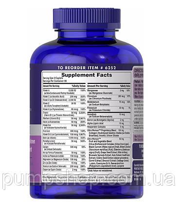 Витамины для женщин Puritan's Pride Ultra Woman™ Daily Multi 180 таб., фото 2