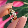 Золотое кольцо женское с 1 камнем, фото 5