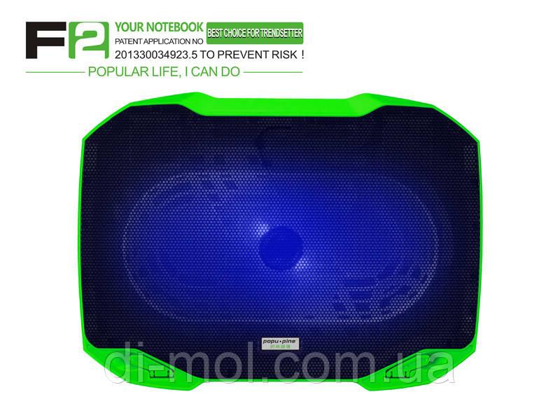 Охлаждающая подставка для ноутбука CoolCold F2, (черный/красный, черный\зеленый)