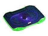 Охлаждающая подставка для ноутбука CoolCold F2, (черный/красный, черный\зеленый), фото 2