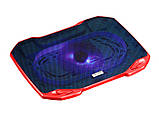 Охлаждающая подставка для ноутбука CoolCold F2, (черный/красный, черный\зеленый), фото 3