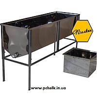 Стол для распечатывания рамок 1,5 метр (AISI 304, толщиная стенок бака 0,5 мм, глубокая корзина)