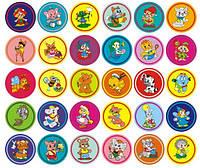 Разноцветные наклейки на шкафчики