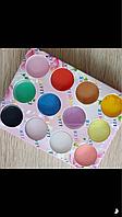 Набор цветной акриловой пудры для декора ногтей