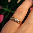 Золотое кольцо женское с 1 камнем, фото 4