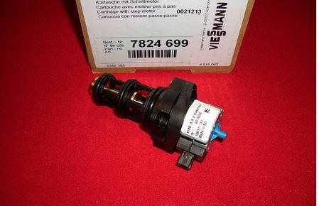 7824699 Трехходовой клапан с картриджем в сборе и электроприводом Vitopend 100-W WH1B.(ОРИГИНАЛ), фото 2