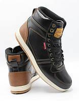 Кроссовки мужские Levi's Stanton Burnish Sneaker. Черные. Оригинал. Размер 42.5, 44