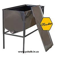 Стол для распечатывания рамок 1 метр (AISI 304, толщиная стенок бака 0,5 мм, плоская корзина)