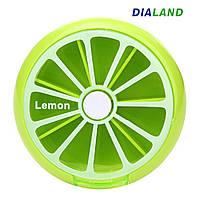 Таблетница PILL BOX (органайзер для таблеток) Lemon, фото 1