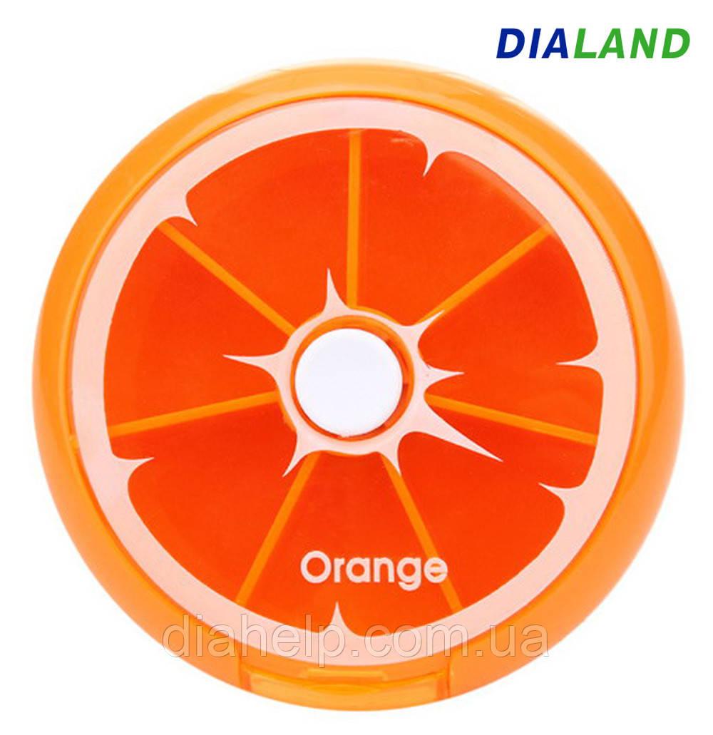 Таблетница PILL BOX (органайзер для таблеток) Orange