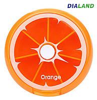 Таблетница PILL BOX (органайзер для таблеток) Orange, фото 1