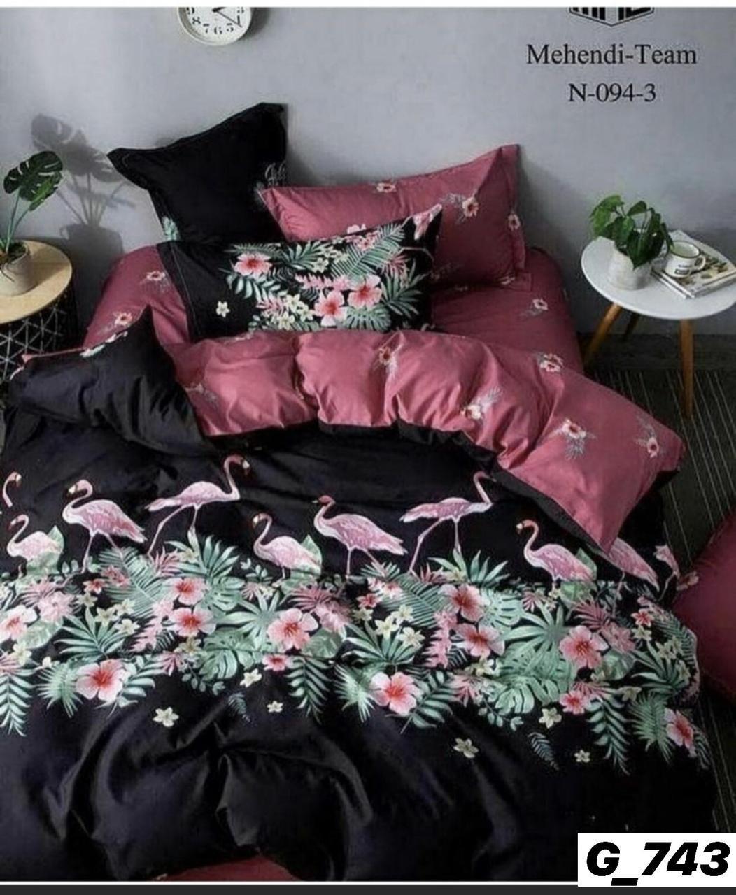 Полуторное постельное бельё Розовый Фламинго