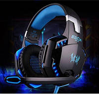 Наушники игровые с подсветкой KOTION EACH G2000 Blue/Black
