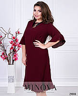 Лаконичное платье с романтичными рюшами с 50 по 56 размер, фото 1