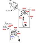 Выключатель концевой педали сцепления нижний киа Соренто 1, KIA Sorento 2003-08 BL, 938403e000, фото 5