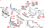 Бампер передний киа Соренто 3, KIA Sorento 2015-18 UM, 86511c5040, фото 4