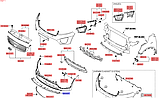 Бампер передний накладка структуры киа Соренто 3, KIA Sorento 2015-18 UM, 86565c5010, фото 3