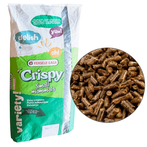 Корм для шиншилл и дегу Versele-Laga Crispy Pellets Chinchillas & Degus гранулированный 25 кг