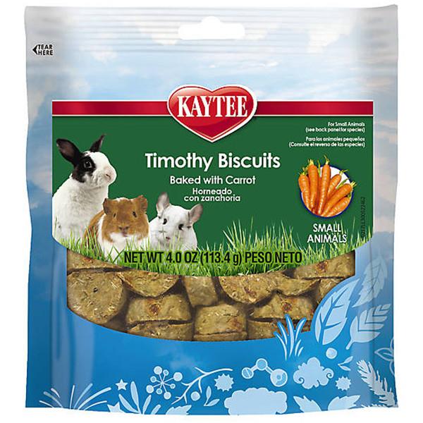 Лакомство для грызунов Kaytee Timothy Biscuits Carrot печенье с морковкой 114 г
