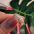 Женское золотое кольцо с цирконием, фото 5