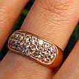 Женское золотое кольцо с цирконием, фото 4