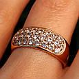Женское золотое кольцо с цирконием, фото 2