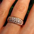 Женское золотое кольцо с цирконием, фото 3
