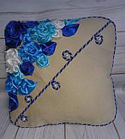 """Интерьерная подушка """"Морозные цветы"""""""