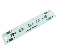 Печатна плата алюминиевая 000-04-03 3 светодиода 3528 70x13мм 4541с