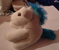 Игрушка мягкая единорог единорожка нивея пони брелок на ключи сумку грива -синяя