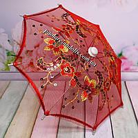 Зонтик для кукол ажурный красный, фото 1