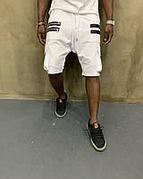 Мужские шорты-карго с боковыми карманами летние белые - S, M, L