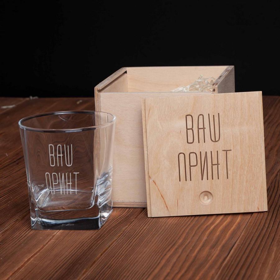 """Стакан для виски в деревянной коробке """"Конструктор"""" персонализированный"""