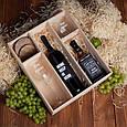 """Набор для вина и виски """"Конструктор"""" в ящике персонализированный, фото 2"""