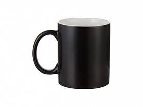 Чашка для сублимации хамелеон ПОЛУГЛЯНЕЦ 330 мл (черный)
