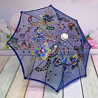 Зонтик для кукол ажурный синий, фото 1