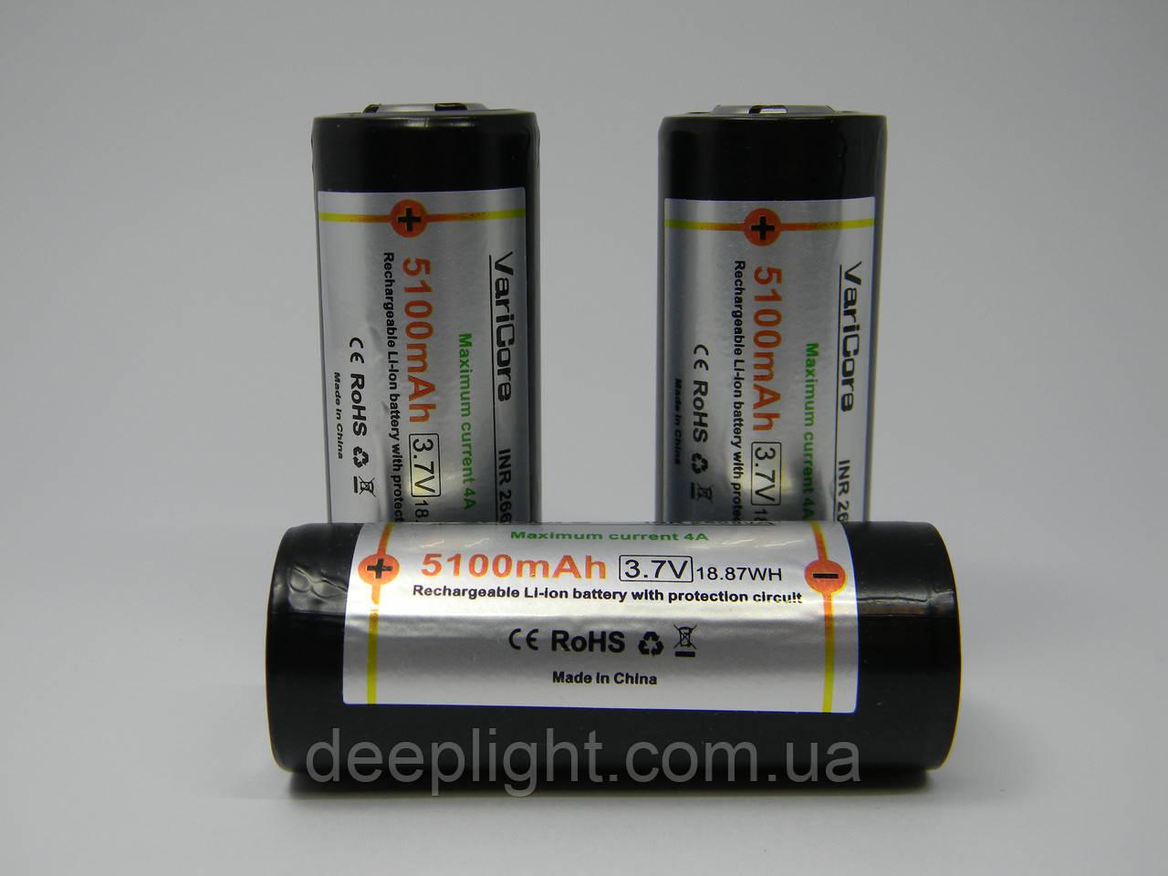 Аккумуляторы VariCore 26650 5100-5500 mAh с платой защиты(тесты ёмкости)