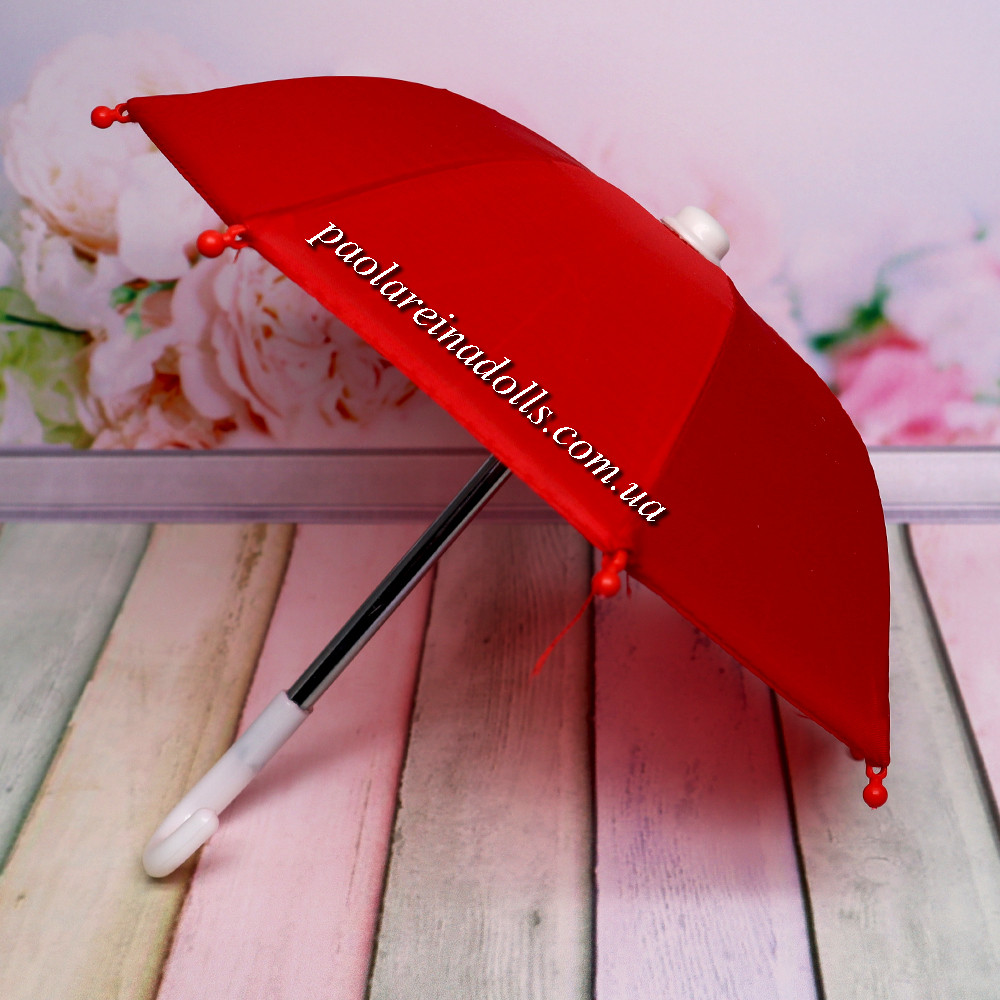 Зонтик для кукол красный