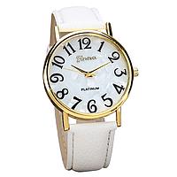 Наручные часы Geneva Retro Platinum White
