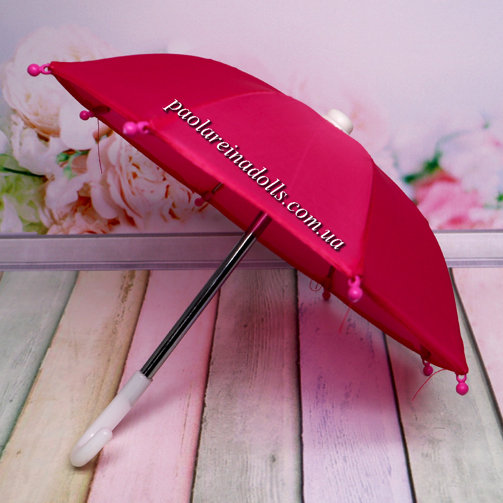 Зонтик для кукол малиновый