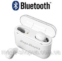 Вакуумные наушники и гарнитура беспроводные Bluetooth блютуз X8-W для телефона смартфона. Бездротові навушники