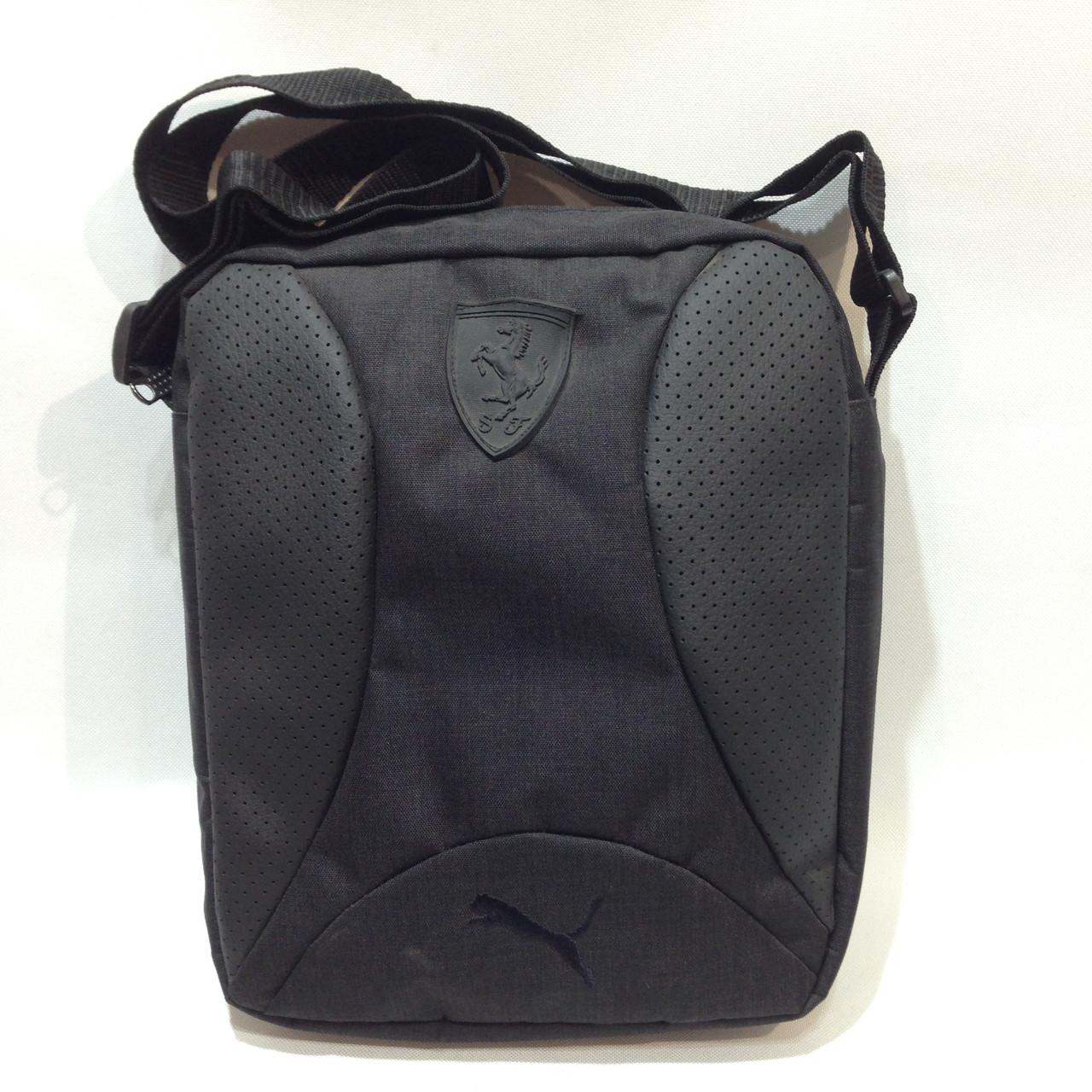 Мужская барсетка в стиле Puma, сумка через плечо серая