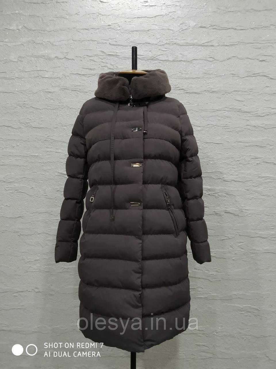 Пальто пуховик женский Аксинья 3 тм Nui Very Размеры 48 62