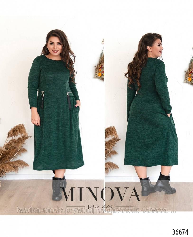 Платье №108Б-темно-зеленый