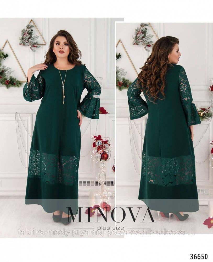 Платье №148А-темно-зеленый