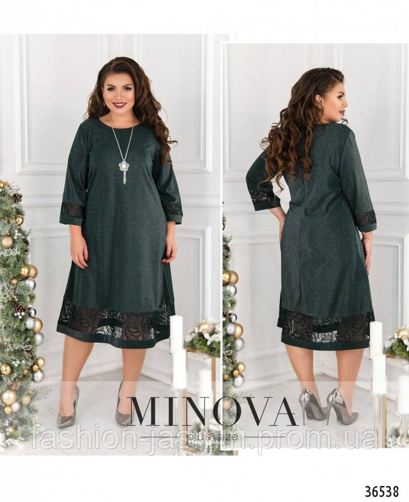 Платье №747-1-темно-зеленый